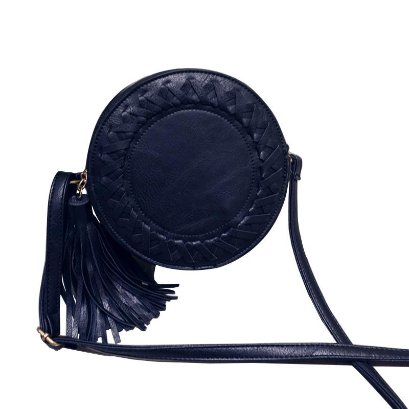 Mara's Dream Round Women Tassel Bag Woven Crossbody Bags