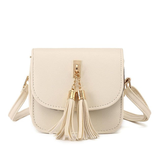 Messenger Shoulder Handbag With Tassel