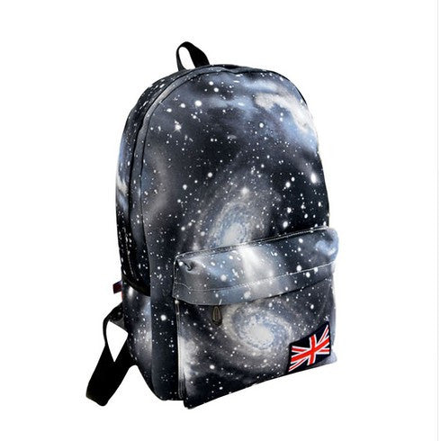 Multicolor Galaxy Canvas Backpack