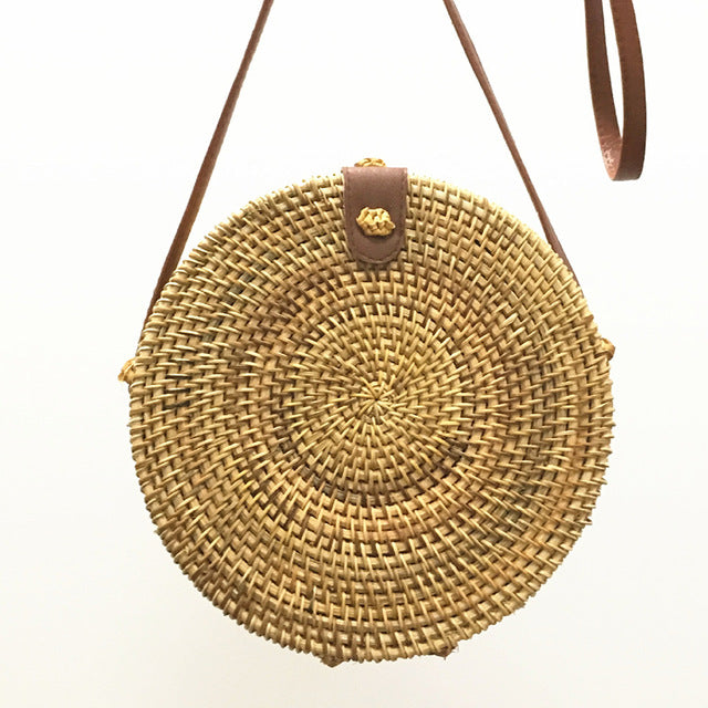 Handmade Straw Purse For Ladies