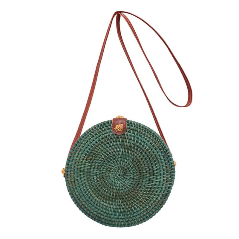 Rattan Simple Ladies Shoulder Bags