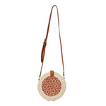 Bucket Handmade Woven Shoulder Summer Beach Bohemia Circle Bag