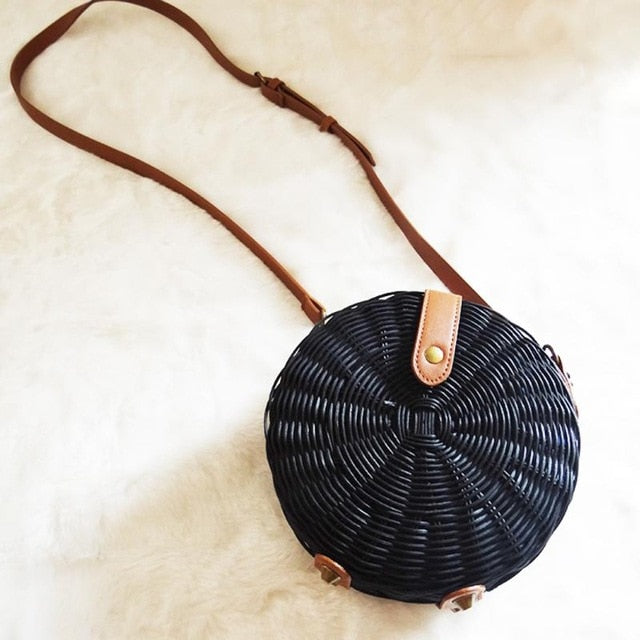 Summer Rattan Bag Handmade Beach Bag