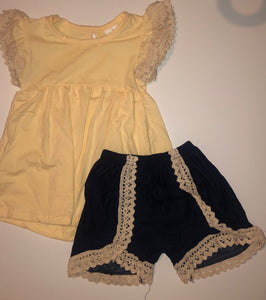 Yellow Lace Outfit