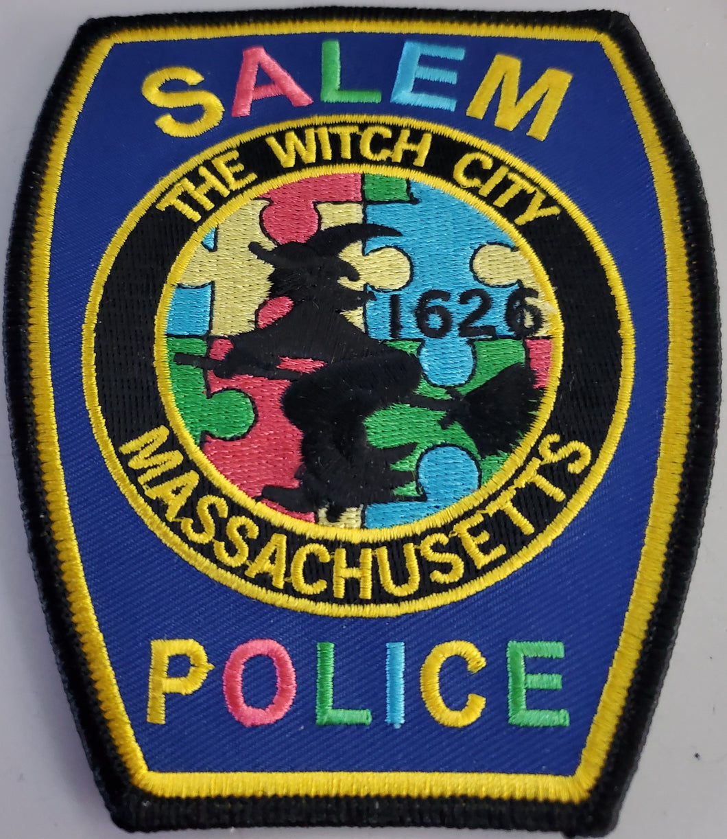 SALEM POLICE AUTISM AWARENESS PATCH