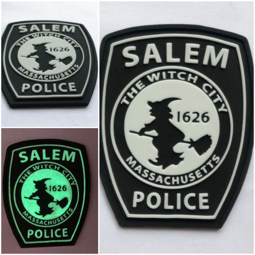 SALEM POLICE GLOW PVC MORALE PATCH *NEW*