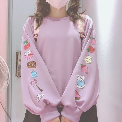 🍩LITTLE TREATS SLEEVE PRINT SWEATSHIRT🍩