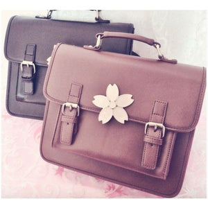 Sakura Blossom School Satchel (Brown/Black)