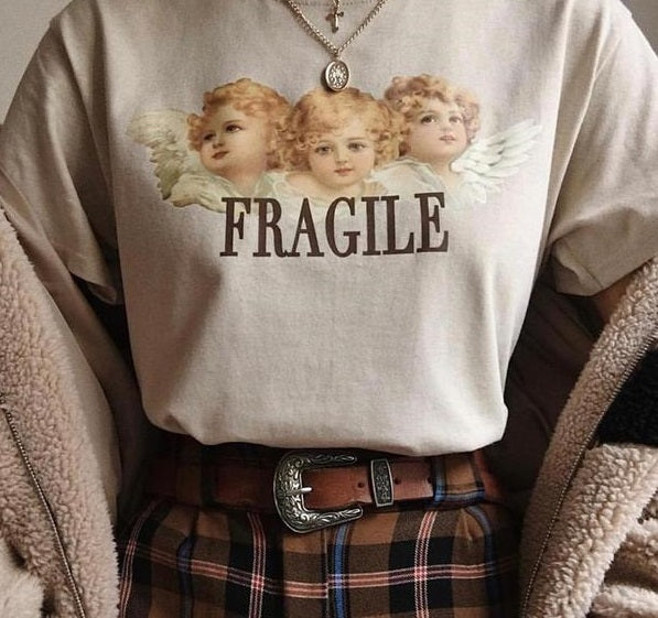 Harajuku Angel Fragile Tshirt