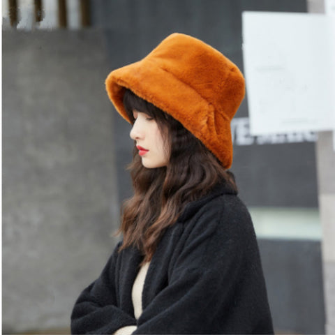 Harajuku Faux Fur Bucket Hat