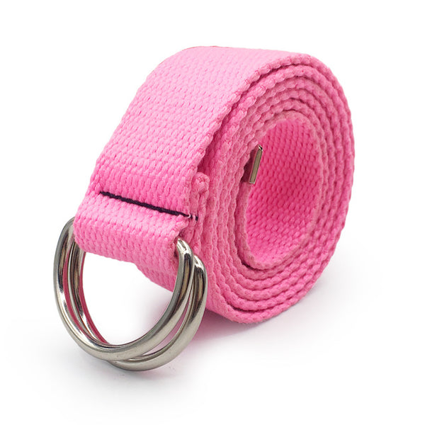 Harajuku Canvas D Ring Tactical Buckle Belt (14 Styles)