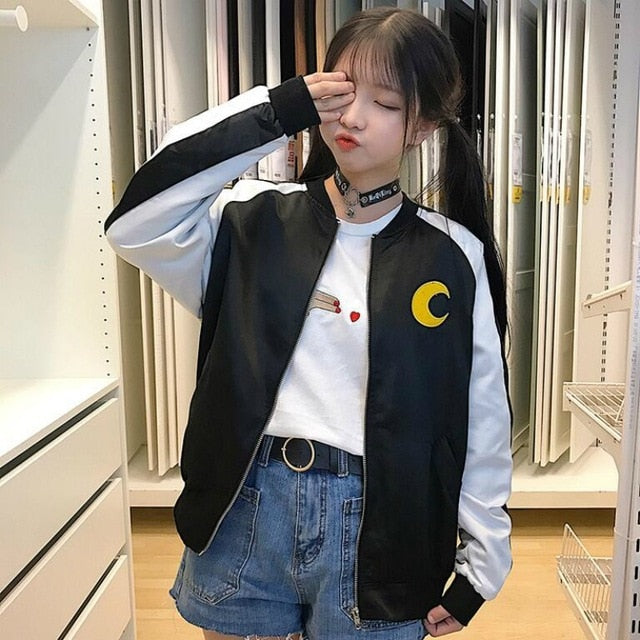 Harajuku Sailor Moon Bomber Jacket