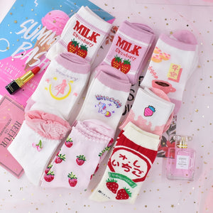 Harajuku Kawaii Strawbery Milk Sailor Moon Ankle Socks (27 Styles)