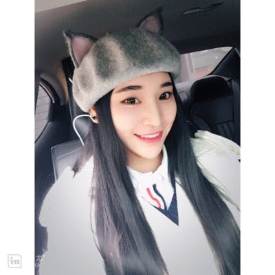 Harajuku Fox Ear Beret (3 Colors)