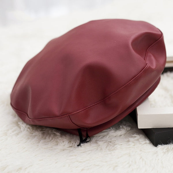 Harajuku Ulzzang Leather Beret