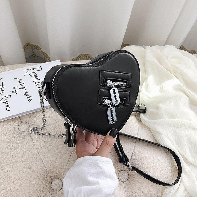 Harajuku Heart Razor Shoulder Bag (5 Colors)