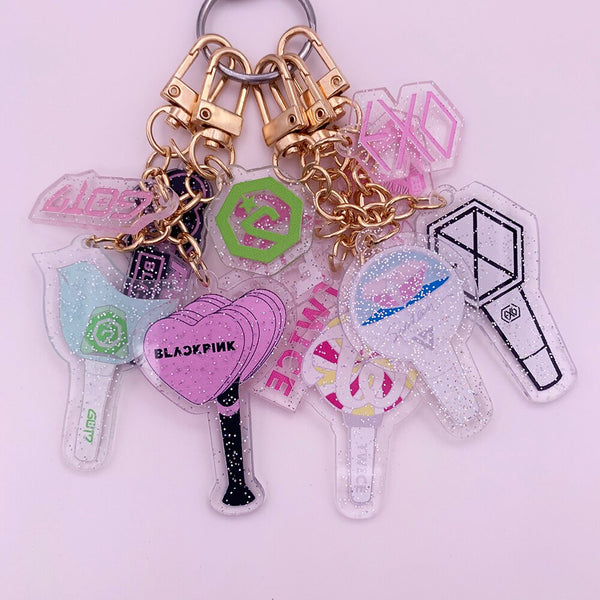 Mini Lightstick Keychains - Blackpink, EXO, GOT7, Izone, Seventeen, Twice