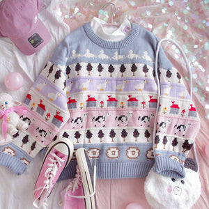 HARAJUKU PASTEL CHRISTMAS SWEATER