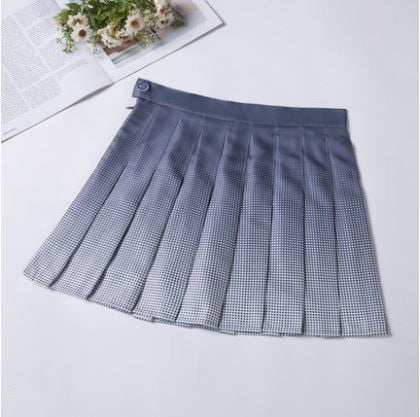 Harajuku Gradient Tennis Skirt (4 Colors)
