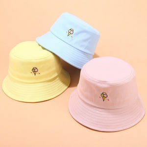 HARAJUKU ULZZANG ICE CREAM PASTEL BUCKET HAT