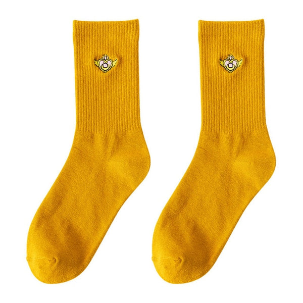 Harajuku Kawaii Fashion Sailor Moon Embroidered Socks (10 Styles)