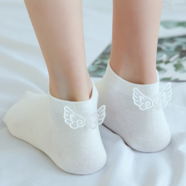 Harajuku Kawaii Transparent Wing Socks (5 Colors)