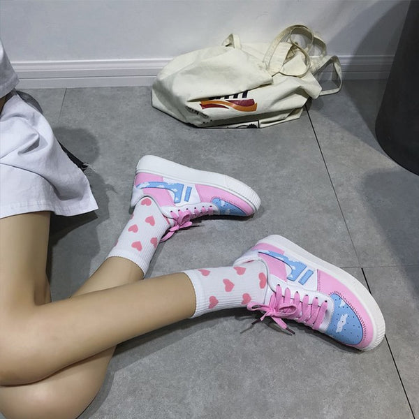 Harajuku Pastel Cloud Sneakers