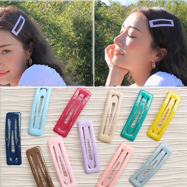 Harajuku Ulzzang Oversized Square Pastel Hair Pin (1 Pcs)