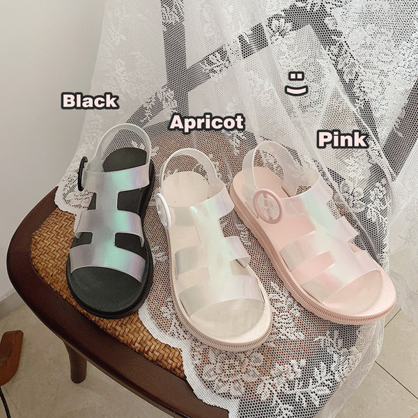 Harajuku Ulzzang Mori Girl Jelly Shoes Sandals (3 Colors)