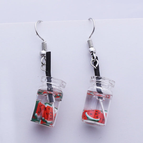 HARAJUKU BOBA TEA TAPIOCA EARRINGS