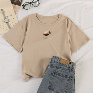 Korean Style Summer Fruit T-shirt (5 Colors)