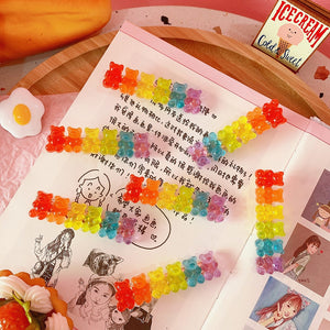 Harajuku Rainbow Gummy Bear Hair Barette