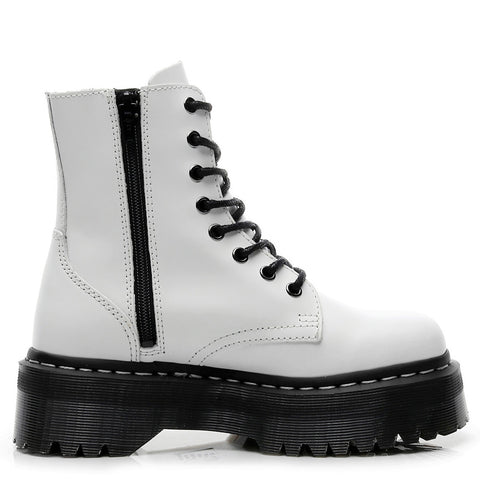 Harajuku Chunky Black and White Short Combat Boots