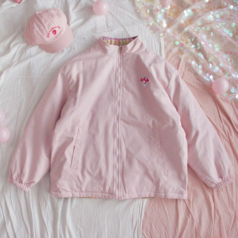 Harajuku Kawaii My Melody Double Sided Down Jacket (Pink/Mint)