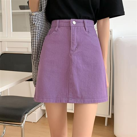 Plus Size Harajuku Kawaii Fashion Pastel Denim Mini Skirt (4 Colors)