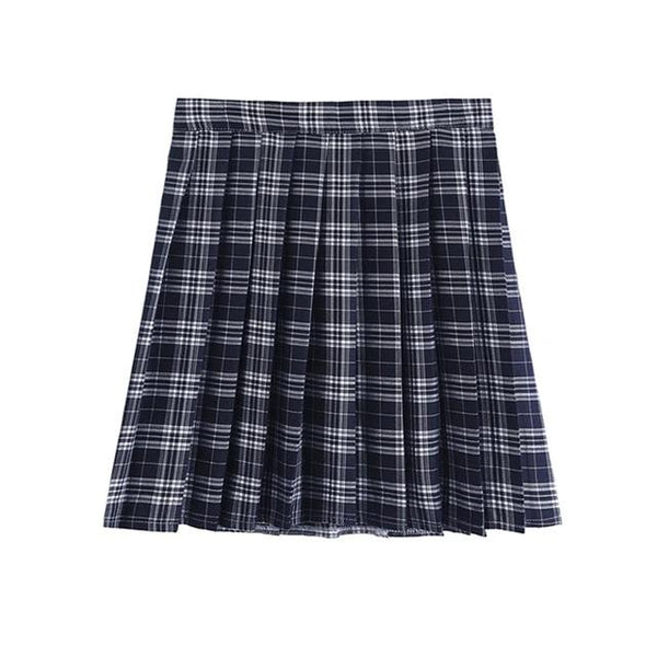 Plus Size Harajuku Kawaii Fashion Style Japanese School Uniform Plaid Mini Skirt (10 Colors)