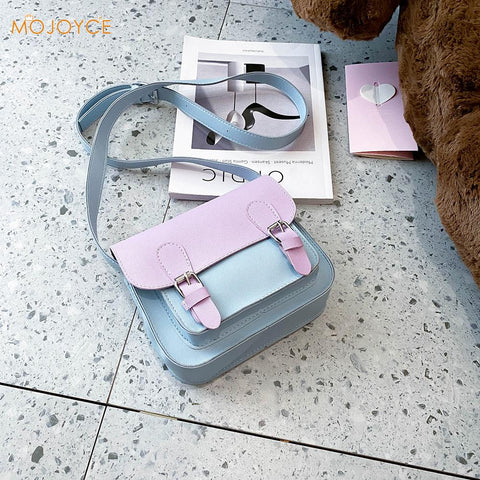 Harajuku Kawaii Fashion Pastel Lilac Baby Blue Mini Satchel Bag