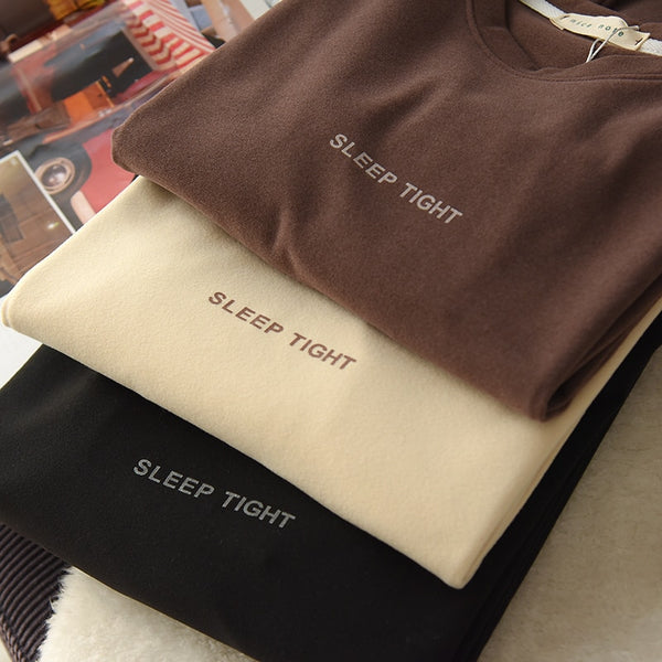 Harajuku Ulzzang Sleep Tight Loungewear Long Sleeve T-shirt (3 Colors)
