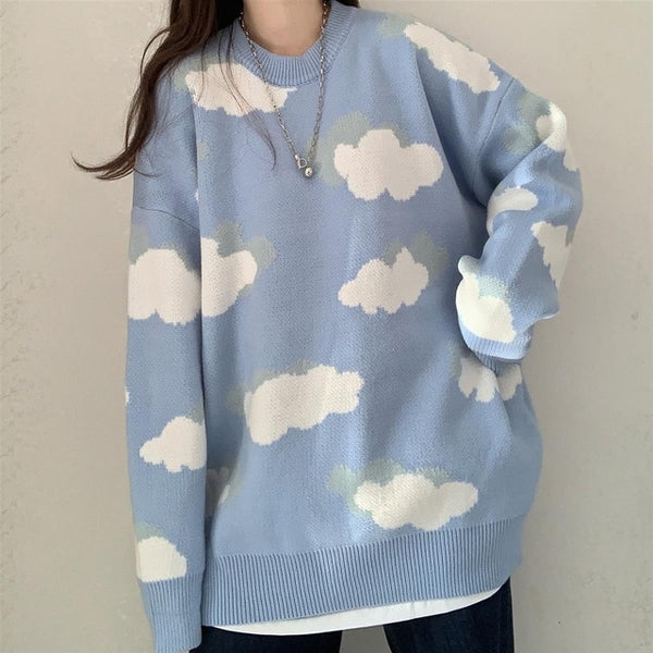 Harajuku Kawaii Fashion Oversized Cloud Sweater