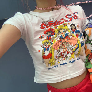Harajuku Kawaii Fashion Y2K Sailor Moon Crop Top