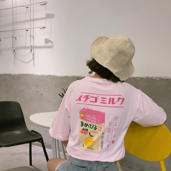 🍑 PEACH MILK TSHIRT 🍑