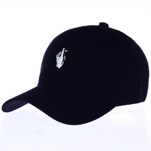 KOREAN HEART BASEBALL CAP (BLACK/PINK/WHITE)