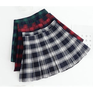 Tartan Plaid Checkered Mini Skirt
