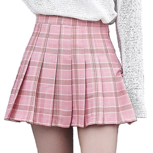 Essential Harajuku Pastel Plaid Skirt