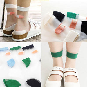 Harajuku Transparent Band Aid Socks