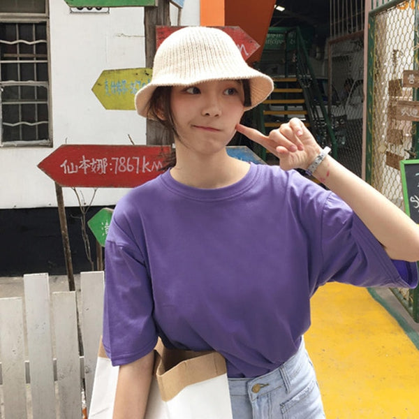 BASIC HARAJUKU LOOSE FIT TSHIRT