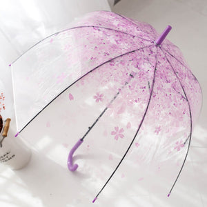 Clear Dome Cherry Blossom Umbrella
