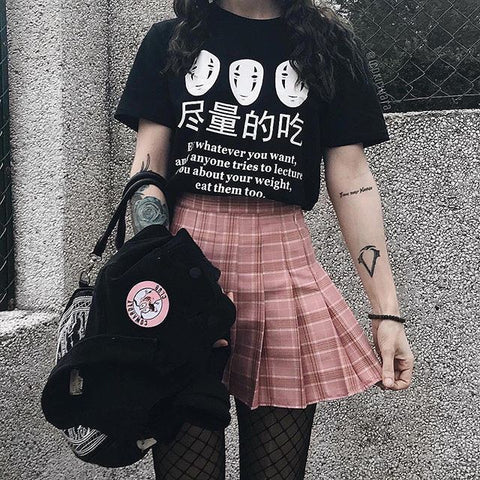 Harajuku Spirited Away No Face Tshirt