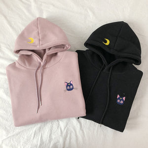 Neutral Sailor Moon Luna Hoodie