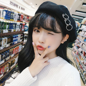 Harajuku Korean Ring Piercing Beret